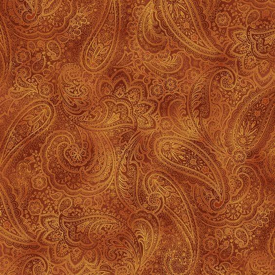 Radiant Paisley braun - gold