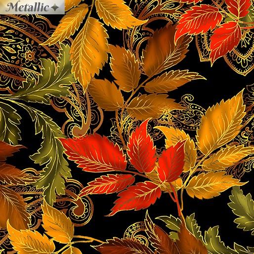 Radiant Leaves schwarz