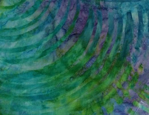 Batik grün gemustert