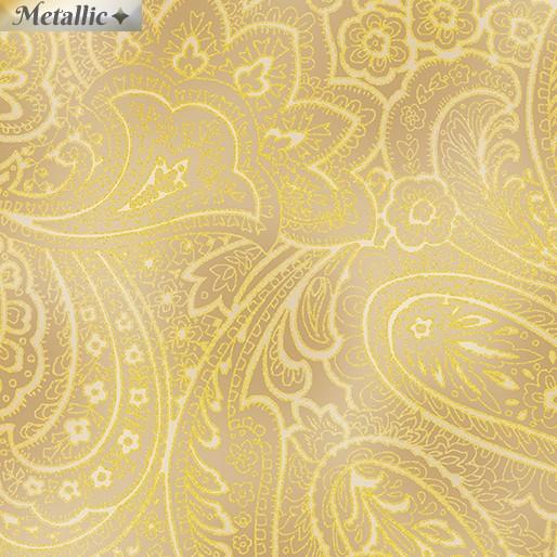Radiant Paisley Gold