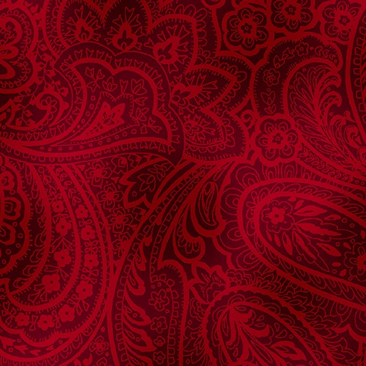 Radiant Paisley bordeaux rot