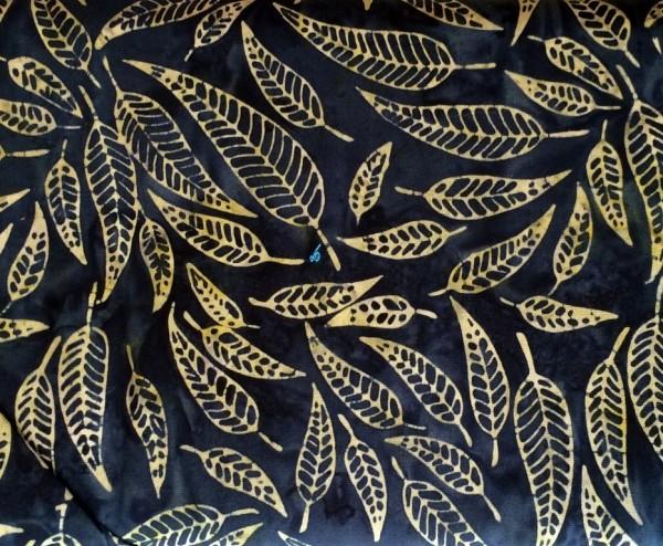 Batik anthrazit oliv gemustert