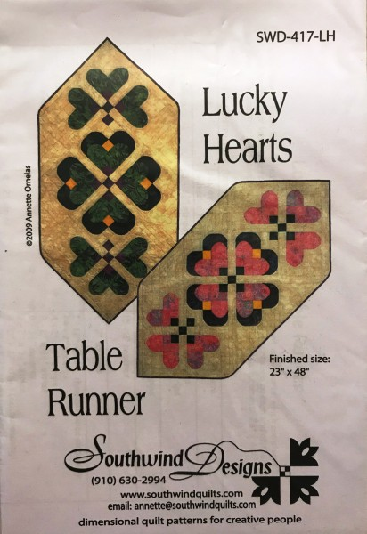 Lucky Hearts Table Runner