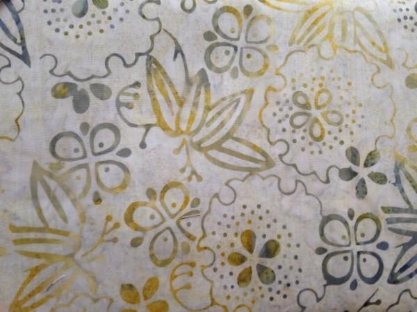 Tonga Batik beige gelb grün