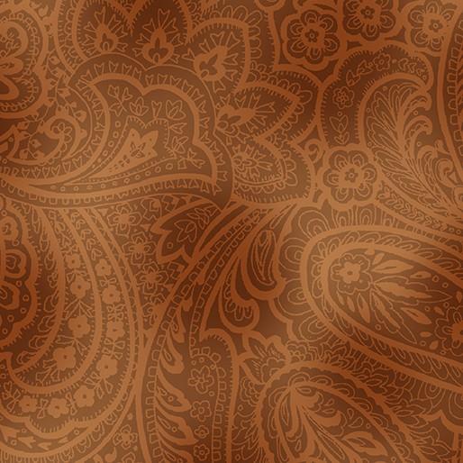 Radiant Paisley ocker - braun