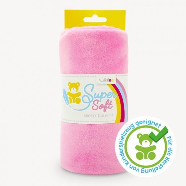 SuperSoft SHORTY Plüschstoff rosa