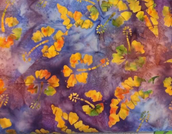 Batik lila gemustert